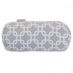 Grey Links Round Bolster Outdoor Pillow