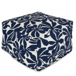 Navy Plantation Large Outdoor Ottoman