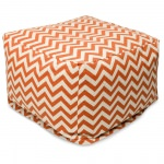 Burnt Orange Zig Zag Large Outdoor Ottoman