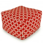 Red Links Large Outdoor Ottoman