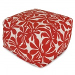 Red Plantation Large Outdoor Ottoman