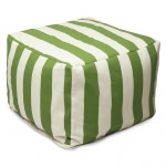 Sage Vertical Stripe Large Outdoor Ottoman