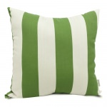 Sage Vertical Stripe Large Outdoor Pillow