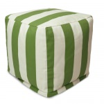 Sage Vertical Stripe Small Outdoor Cube