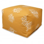 Yellow Coral Large Outdoor Ottoman