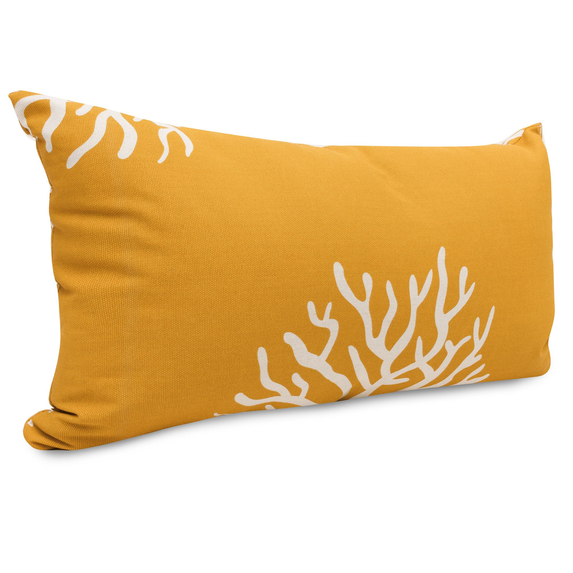 Small Coral Throw Pillows : Yellow Coral Small Outdoor Pillow DFOHome