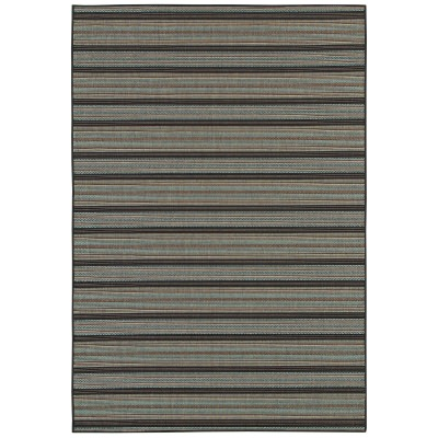 Monaco Coastal Breeze Brown/Blue Outdoor Rug