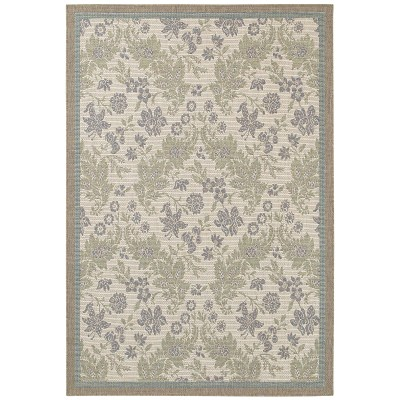 Monaco Palermo Champagne/Moss Outdoor Rug (2ft x 3ft 7in)