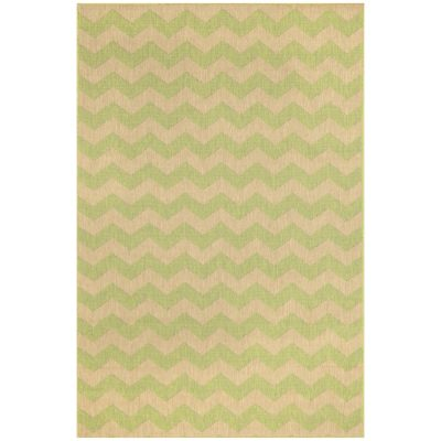 Monterey Lime Zig Zag Chevron Outdoor Rug
