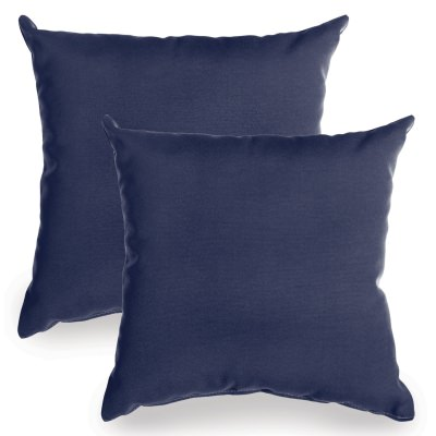 Navy Sunbrella Indoor/Outdoor Throw Pillow - Set of Two