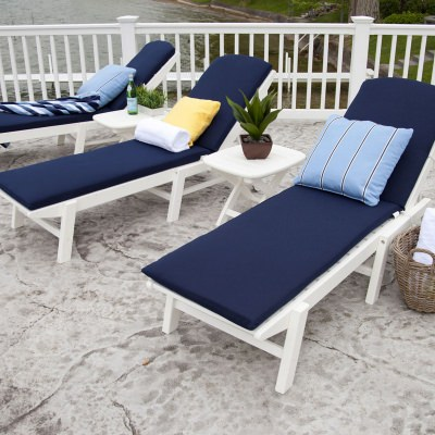 Nautical Wheeled Chaise - Stackable