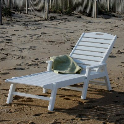 Nautical Chaise with Arms - Stackable