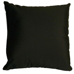 Black Sunbrella Outdoor Throw Pillow