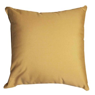 Tan Sunbrella Outdoor Throw Pillow