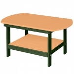 Oblong Coffee Table - Cedar on Green