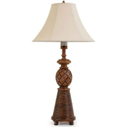 Island Way 36 Inch Abacos Wooden Outdoor Table Lamp