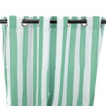 Stripe Spa Outdoor Curtain with Steel Grommets (54 x 96)