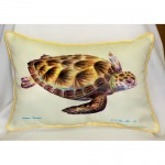 Green Sea Turtle Art Outdoor Pillow 15 in. x 22 in.