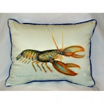 Lobster Art Outdoor Pillow 16 in. x 20 in.