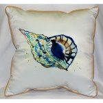 Betsy's Shell Art Outdoor Pillow 18in x 18in