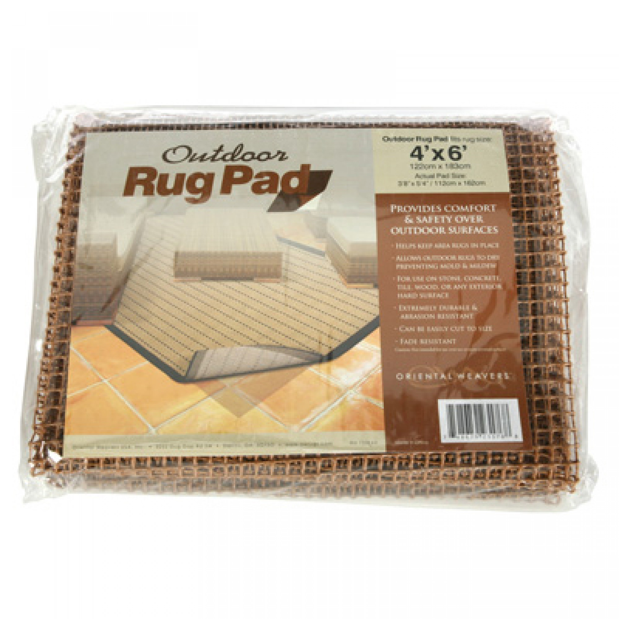 ... Premium Outdoor Rug Pad (Brown) ...