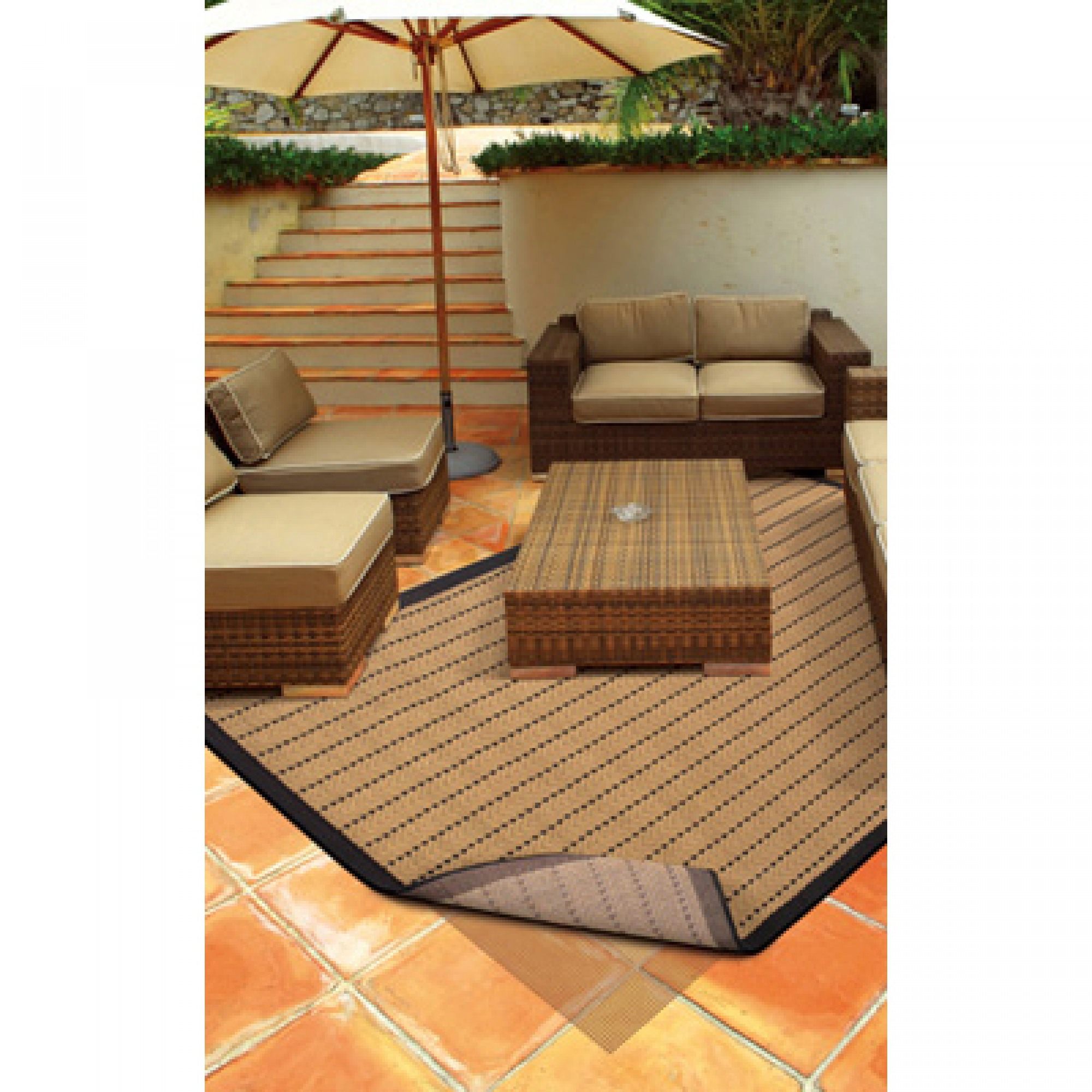 ... Premium Outdoor Rug Pad (Brown)