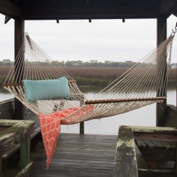 Large Original DuraCord Rope Hammock - Oatmeal