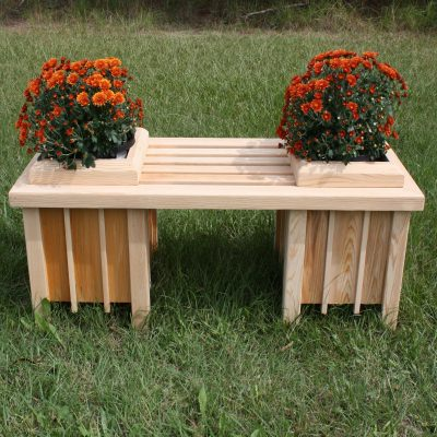 Short Cypress Planter Bench Seat