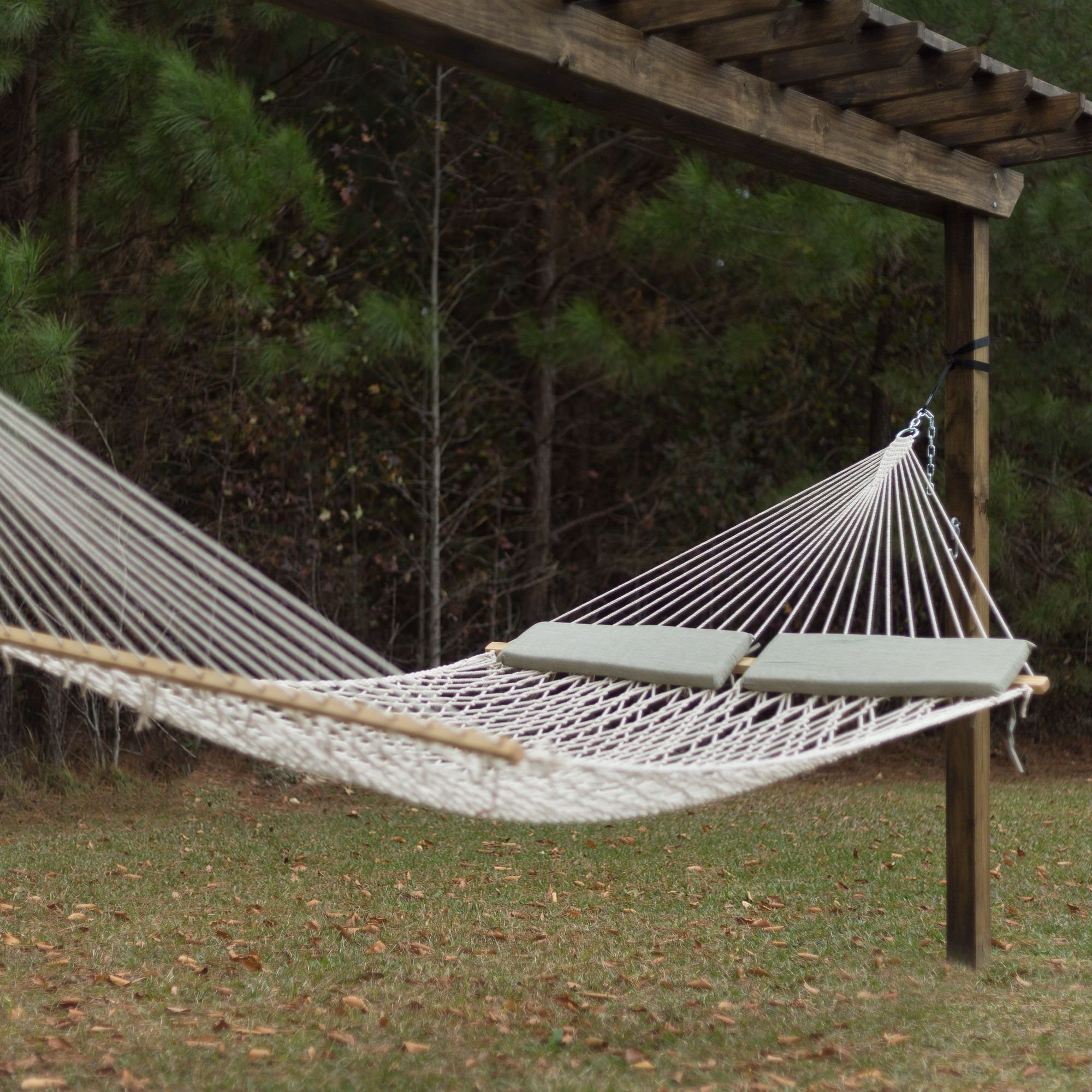 islandbayropehammockchair cfm bay cotton product inuse hammock rope chair hayneedle island
