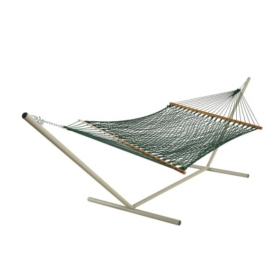 Deluxe Green Polyester Rope Hammock