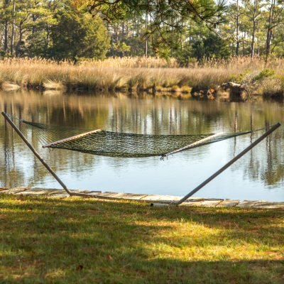 Single Olive Green Weathersmart Rope Hammock