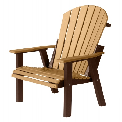 Comfo-Back Deck Chair - Cedar on Chocolate Brown