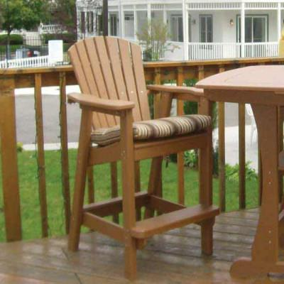 Bar Height Adirondack Dining Chair - Entertain In Style With Outdoor Bar Furniture DFOhome