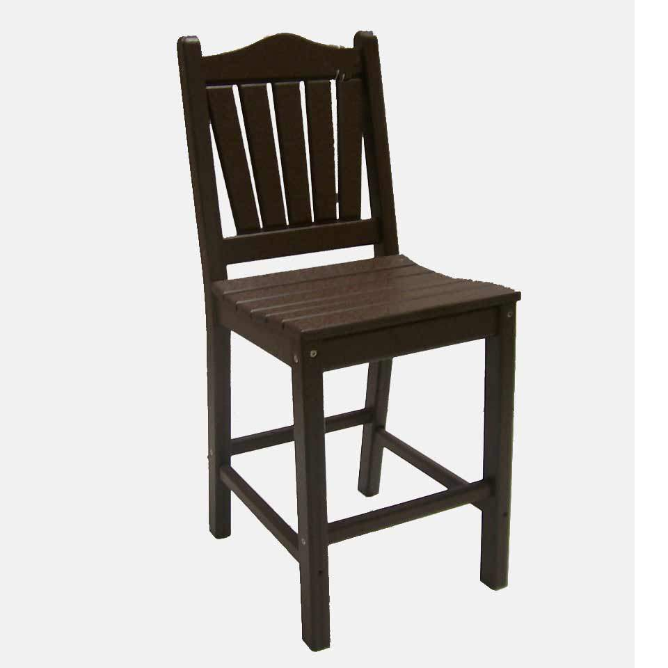 traditional counter height dining chair dfohome