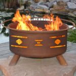 Patina Products Natural Rust Mosaic Santa Fe Fire Pit