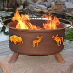 Patina Products Natural Rust Wildlife Fire Pit