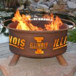 Patina Products Natural Rust Illinois Fire Pit