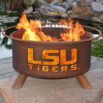 Patina Products Natural Rust LSU Fire Pit