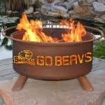 Patina Products Natural Rust Oregon State Fire Pit