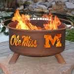 Patina Products Natural Rust Ole Miss Fire Pit