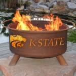 Patina Products Natural Rust Kansas State Fire Pit