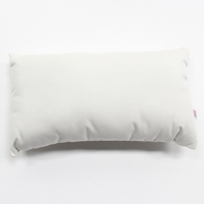 Spectrum Eggshell Sunbrella Outdoor Throw Pillow 19 in. x 10 in. Rectangle/Lumbar