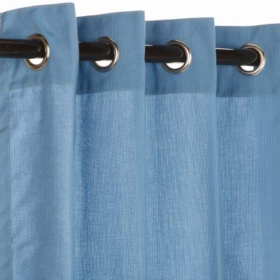 SunbrellaSpectrum Sailor Outdoor Curtain with Nickle Grommets - 50 in by 120 in