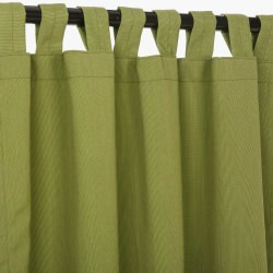 Canvas Turf Sunbrella Outdoor Curtain With Tabs