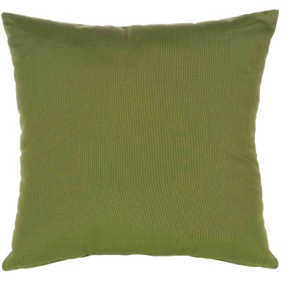 Canvas Turf Sunbrella Outdoor Throw Pillow 19 in. x 10 in. Rectangle/Lumbar