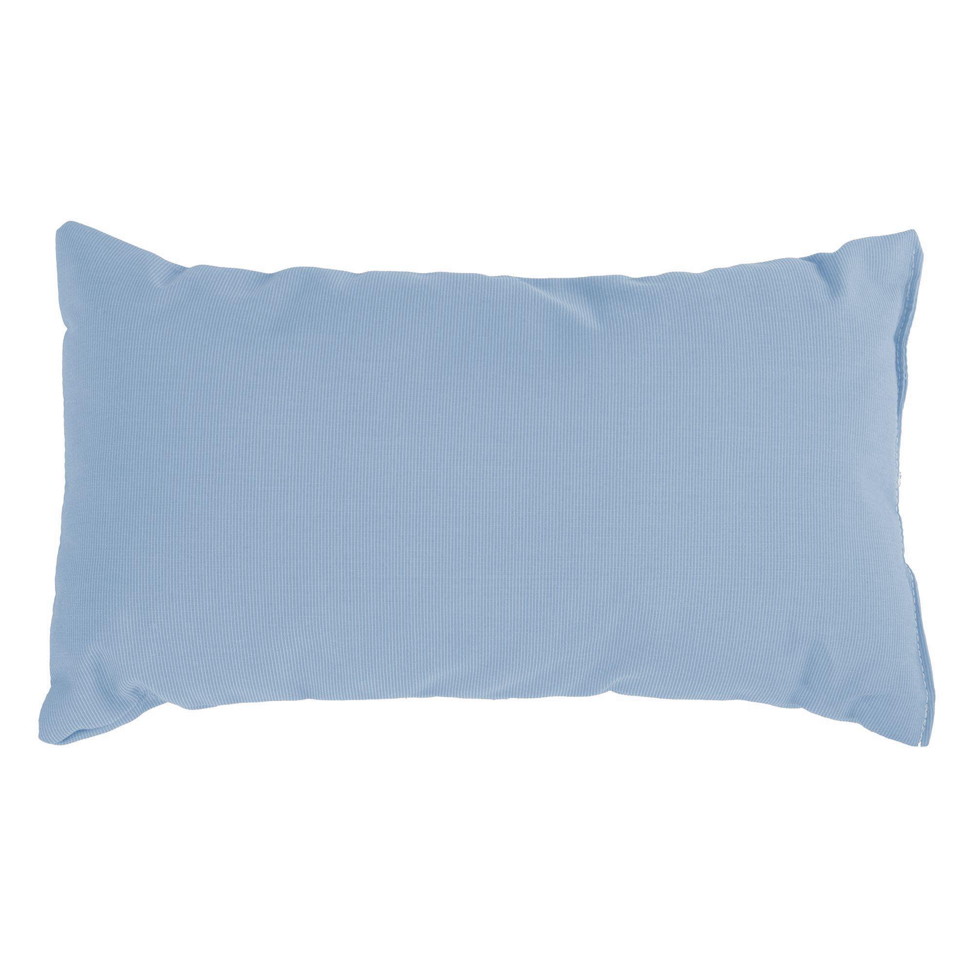 Canvas Air Blue Sunbrella Rectangle Outdoor Throw Pillow 19 In X 10