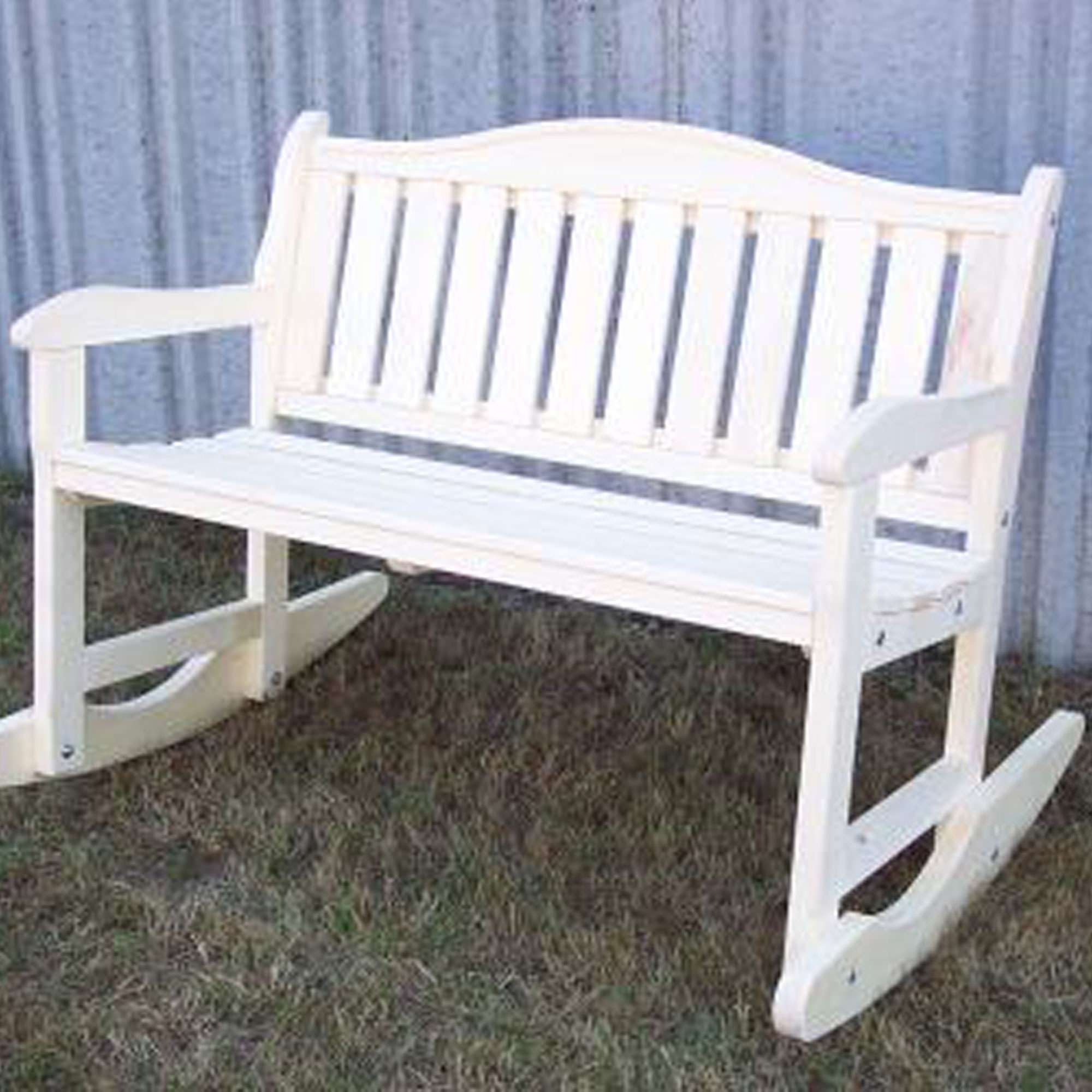 Garden Bench Rocker  White