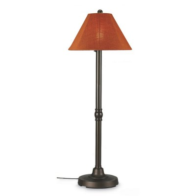 San Juan Outdoor Floor Lamp with Bronze Body and Sunbrella Shade