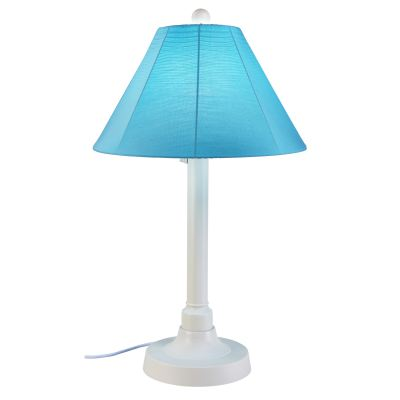 34 In tall San Juan Outdoor Table Lamp Sunbrella Shade