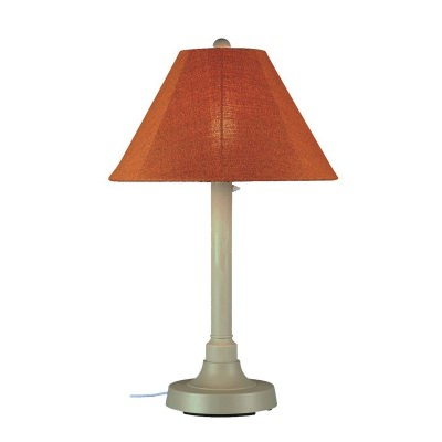 San Juan Outdoor Table Lamp with Sunbrella Shade
